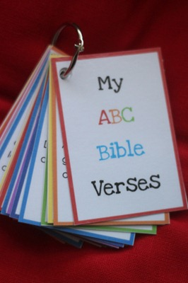 ABC Bible Verse Flashcards