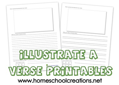 Illustrate a verse printable