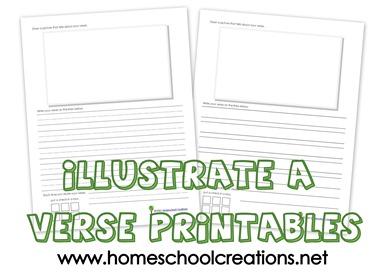 Illustrate a verse printable