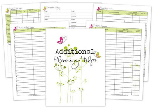 Blog Planner Extras