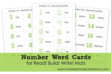 Number Word Cards