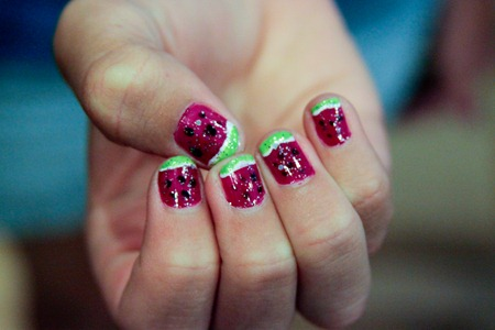Watermelon Finger Nails-1