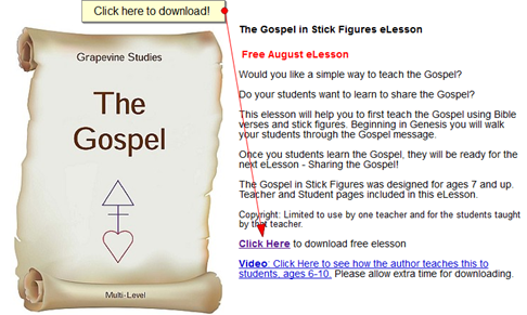 Free Grapevine Studies Bible Lesson