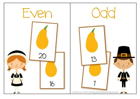Thanksgiving Number Sort Mat