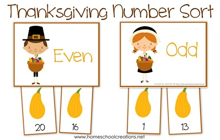Thanksgiving Number Sort