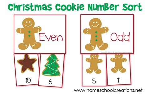 Christmas Number Sort game from www.homeschoolcreations.net