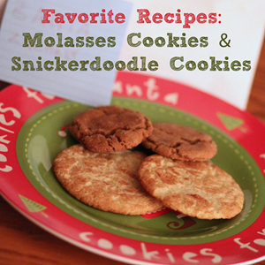Recipes for Molasses Cookies and Snickerdoodle Cookies from www.homeschoolcreations.net