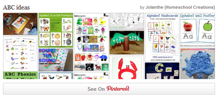 Alphabet Ideas Pinterest Board