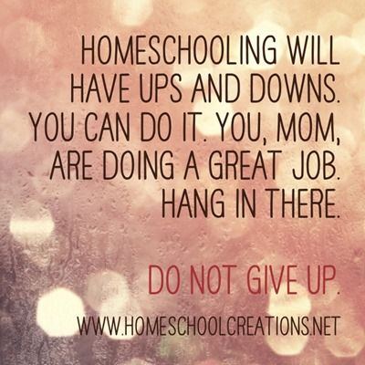 Homeschool Encouragement quote