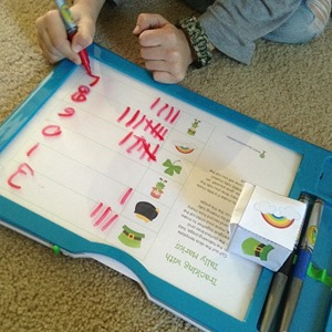 tally marks in Crayola Dry Erase board