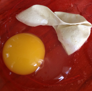 the soft shelled egg that popped