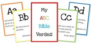 Free ABC Bible Verse Flashcards