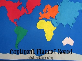 Continent Flannel Board
