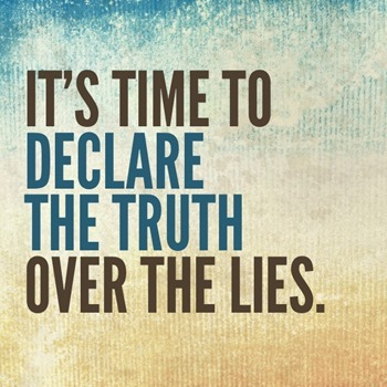 Declare God's truth over lies