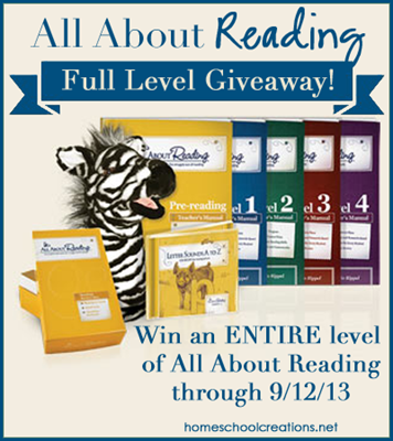 All About Reading Giveaway all levels