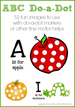 Alphabet Do a Dot pages