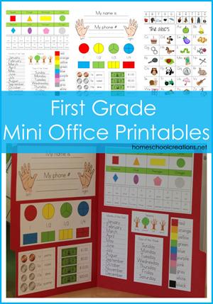 Free First Grade Mini Office From Homeschool Creations Homeschool