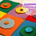 Homeschool Preschool - Felt button board