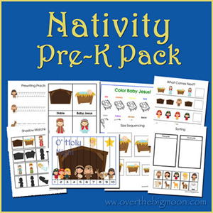Christmas Printables - Nativity PreK Pack