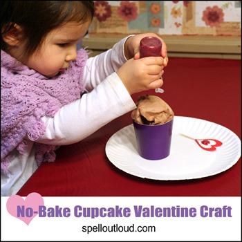 NoBake-Cupcake-Valentine-Craft
