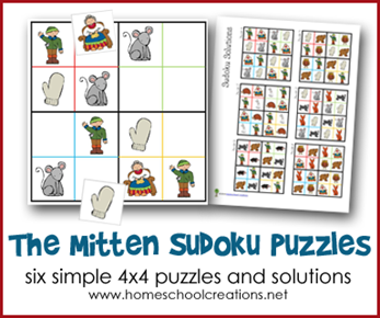 The Mitten Sodoku Puzzles