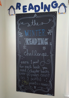 reading challenge blackboard