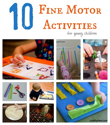 10 Fine Motor Activities for young children from Homeschool Creations