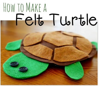 How to Make a Felt Turtle