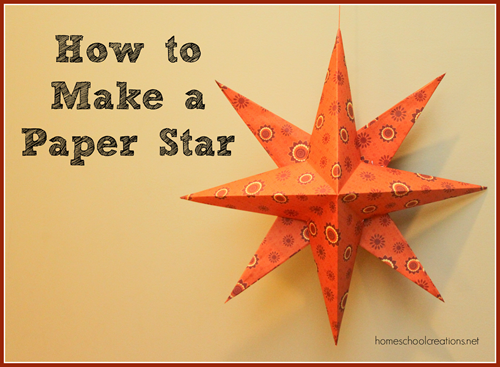 How to Make a Paper Star Tutorial from homeschoolcreations.net