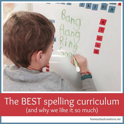 The best homeschool spelling curriculum - and why we like it so much from homeschoolcreations.net