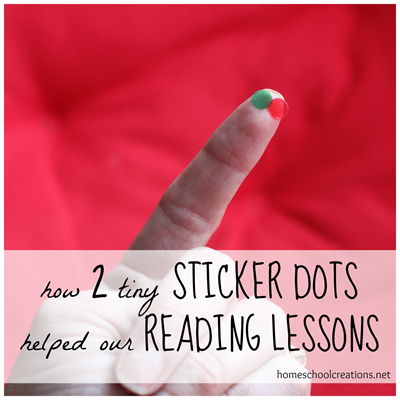 Sticker dots for reading
