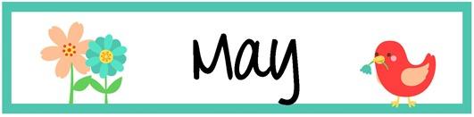 May Pocket Chart Calendar Cards