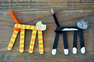popsicle stick cats