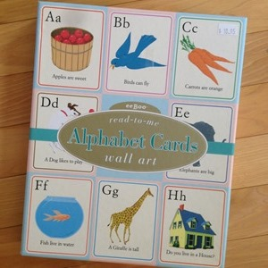 alphabet cards wall art