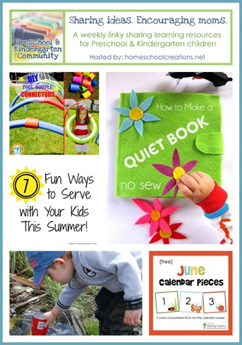 Preschool and kindergarten learning ideas June