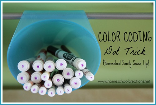 Color Coding Markers Homeschool Sanity Tip