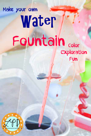 science water fountain color exploration