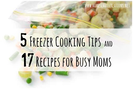 Freezer Cooking Recipes and Tips for Busy Moms