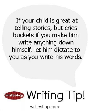 reluctant writer tip