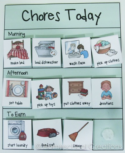 Monster image with regard to printable preschool chore chart