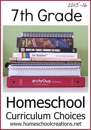 7th Grade Homeschool Curriculum Choices 2015