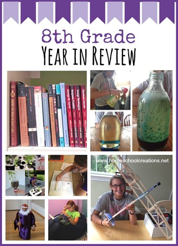 8th Grade Homeschool Year in Review