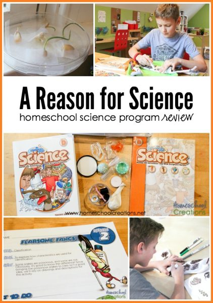 A Reason for Science - a homeschool science program review from Homeschool Creations