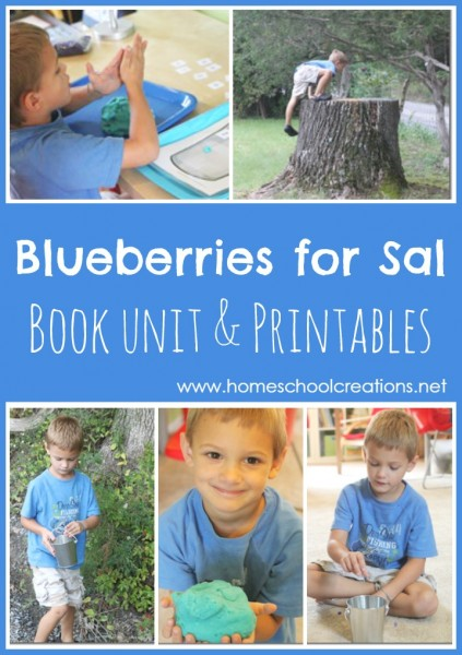 Blueberries for Sal book unit and printables from Homeschool Creations