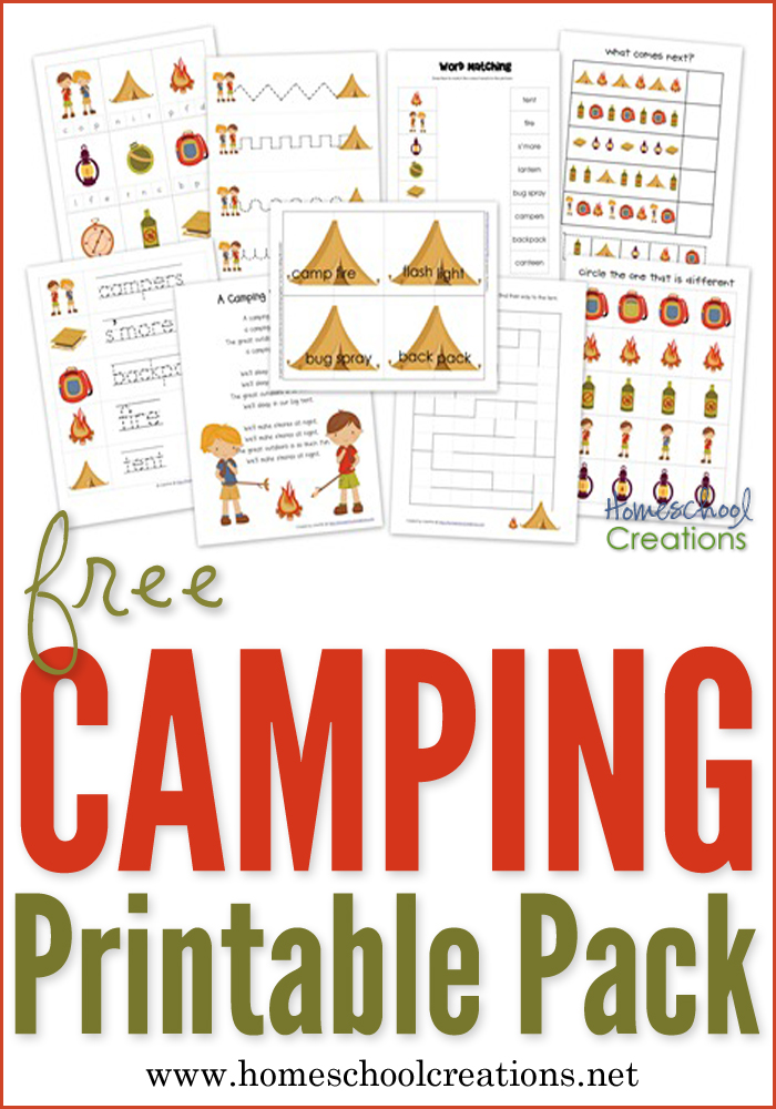 Camping Preschool Pack Free Preschool on Color By Shapes For Preschoolers