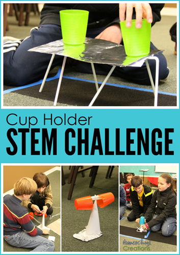 Cup holder #STEM challenge project for kids