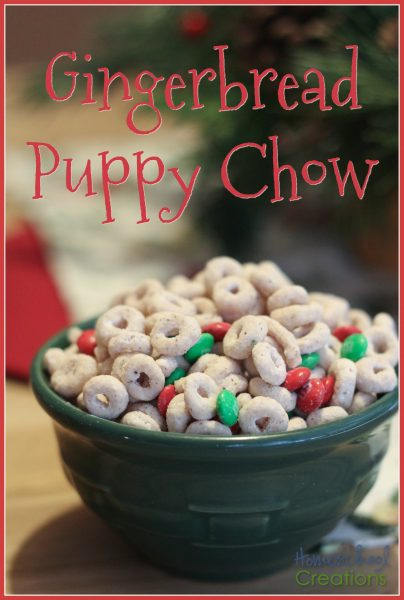 Gingerbread puppy chow recipe