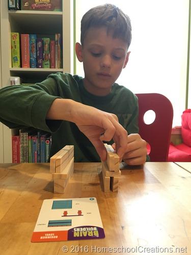 KEVA planks Brain Builder challenge cards
