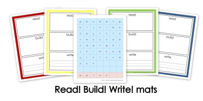 Read, Build, Write collage