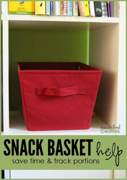 Snack basket - a way to save time and track portion sizes for kids